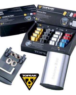 TOPEAK Rescue Box набор для ремонта камер цв. серебряный