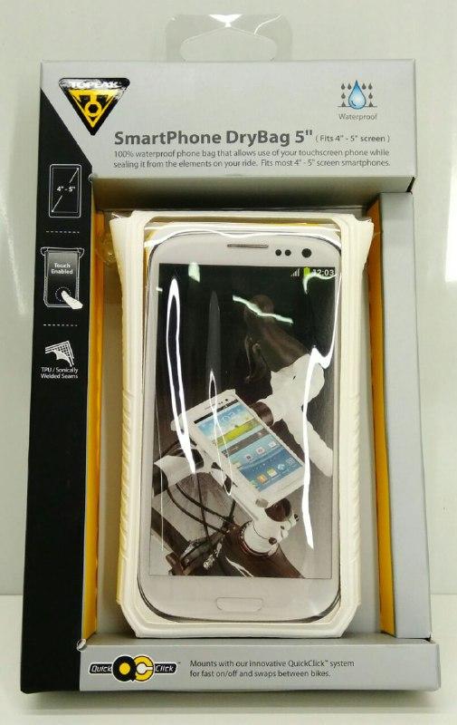 """TOPEAK водонепроницаемый чехол для смартфона с экраном 4""""-5"""" цв.белый"""