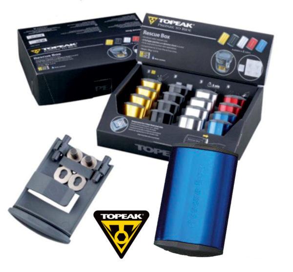 TOPEAK Rescue Box набор для ремонта камер цв. синий
