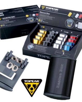 TOPEAK Rescue Box набор для ремонта камер цв. черный