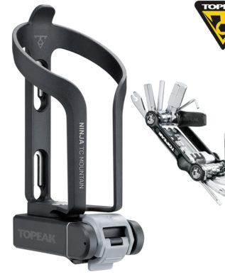 TOPEAK Ninja TC Mountain integrated cage & tool box & Mini 20 Pro tool флягодержатель с интегрированным боксом д/мультиинструмента MTB