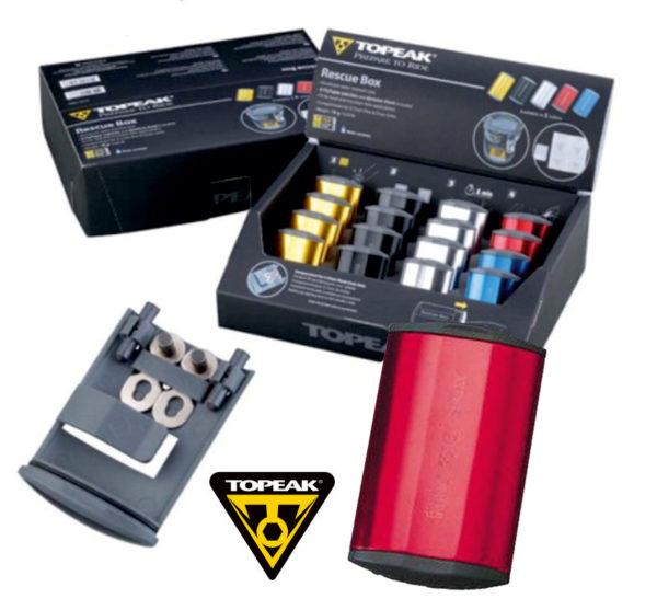 TOPEAK Rescue Box набор для ремонта камер цв. красный