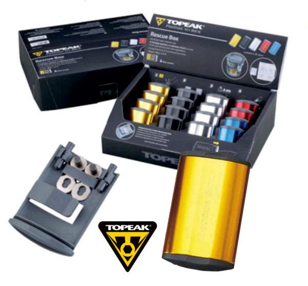 TOPEAK Rescue Box набор для ремонта камер цв. золотой