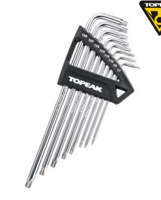 TOPEAK Набор ключей TORX WRENCH SET T7/T9/T10/T15/T20/T25/T27/T30 8 TOOLS