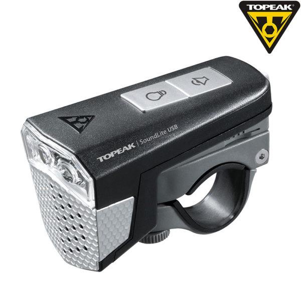 Передний фонарь Topeak SoundLite USB цв.черный