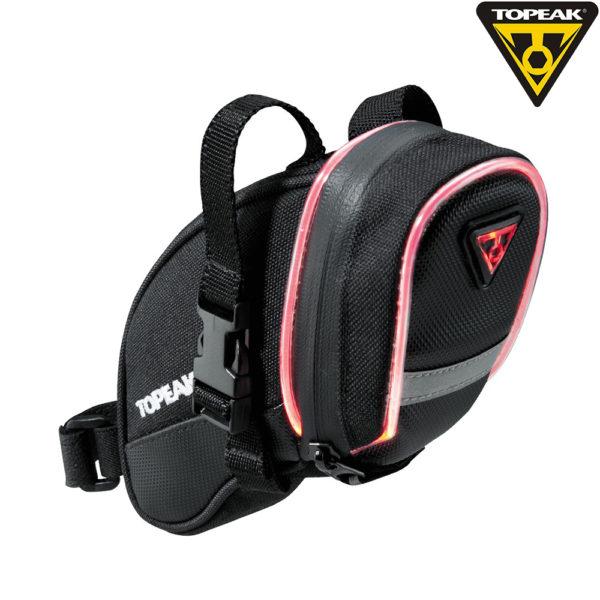TOPEAK сумка подседельная со светящейся окантовкой AERO WEDGE iGLOW STRAP MOUNT MEDIUM  0.5W