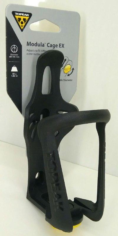 TOPEAK Modula Cage EX флягодержатель с возможностью крепления фляг разного диаметра (Пластик) цв.чёрный