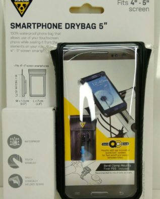 """TOPEAK водонепроницаемый чехол для смартфона с экраном 4""""-5"""" цв.чёрный"""